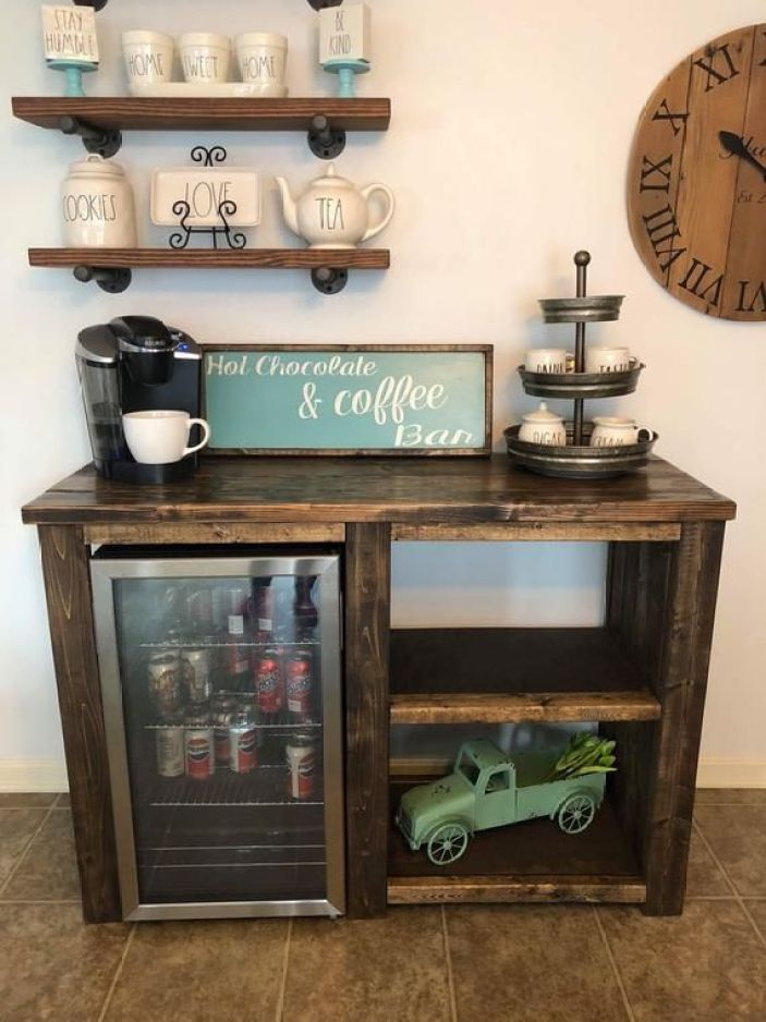 Breathtaking coffee station table #coffeestationideas #homecoffeestation #coffeebar