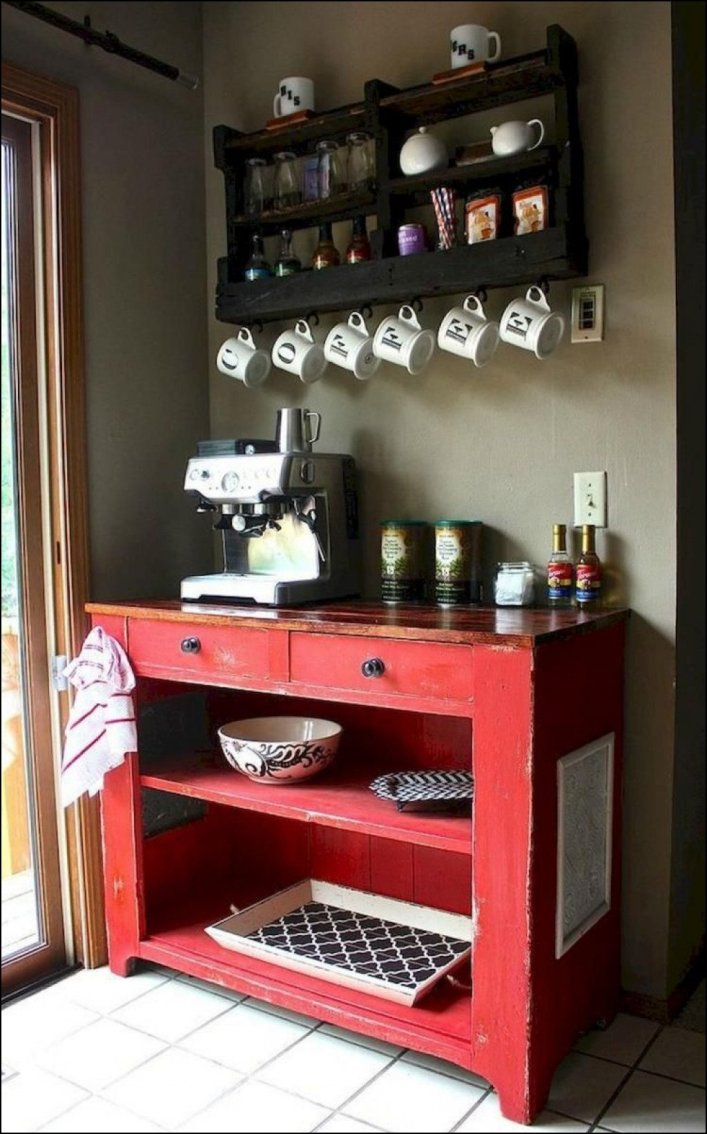 Spectacular kitchen coffee station #coffeestationideas #homecoffeestation #coffeebar
