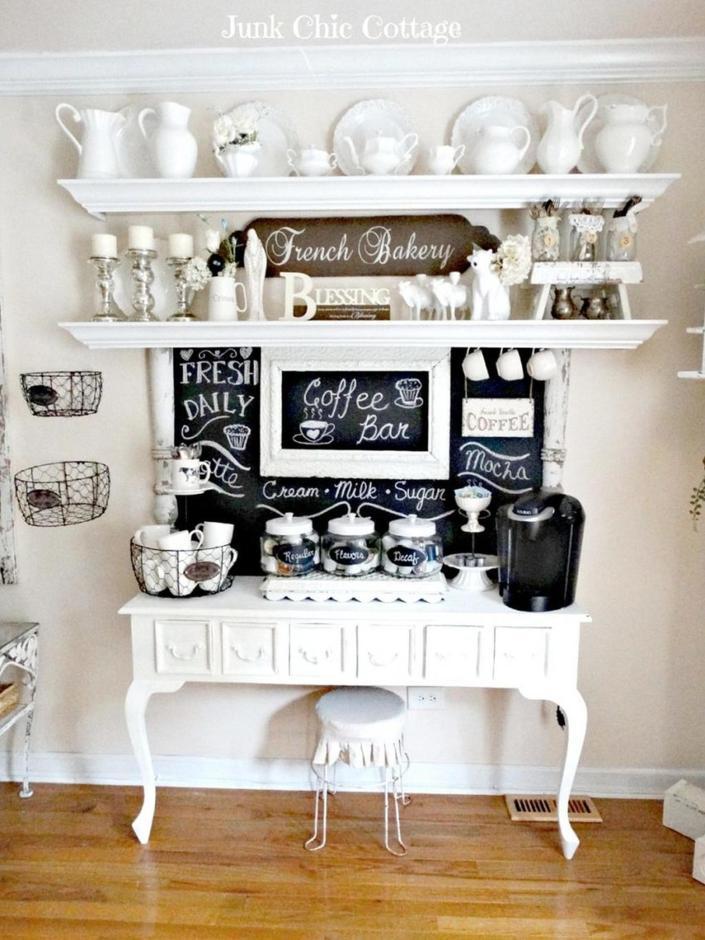 Incredible coffee tea station ideas #coffeestationideas #homecoffeestation #coffeebar