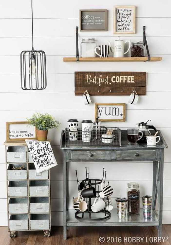 Eye-opening sweet table ideas #coffeestationideas #homecoffeestation #coffeebar