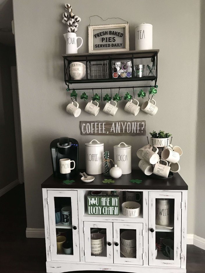 Amazing built in coffee station ideas #coffeestationideas #homecoffeestation #coffeebar