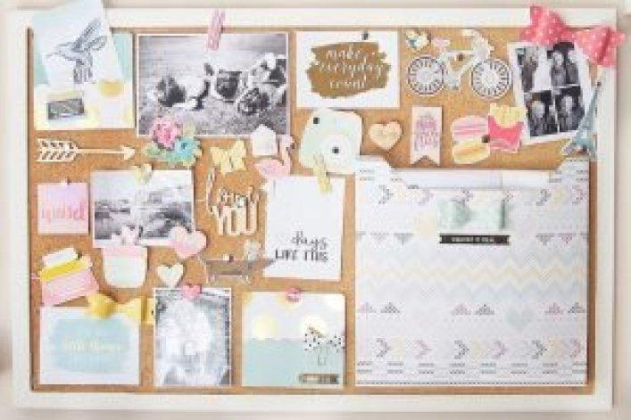Terrific white framed cork board #corkboardideas #bulletinboardideas #walldecor