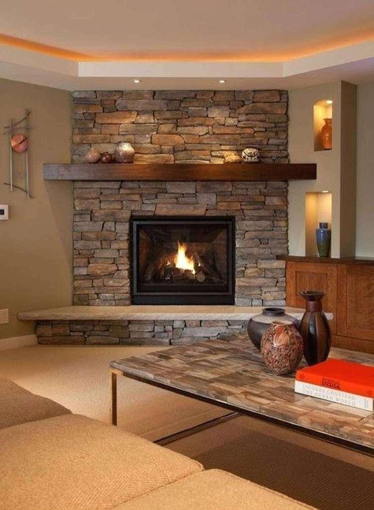 Surprising corner fireplace makeover ideas #cornerfireplaceideas #livingroomfireplace #cornerfireplace