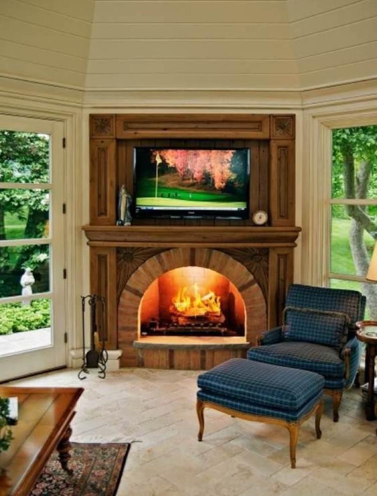 Fabulous corner stove fireplace ideas #cornerfireplaceideas #livingroomfireplace #cornerfireplace