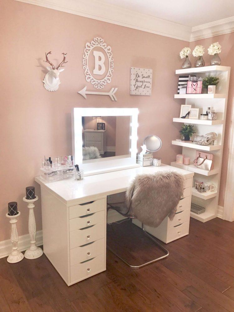 Marvelous ikea vanity makeup table #makeuproomideas #makeupstorageideas #diymakeuporganizer