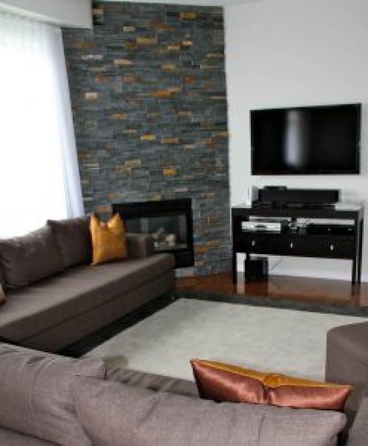 Life-changing corner fireplace design ideas #cornerfireplaceideas #livingroomfireplace #cornerfireplace