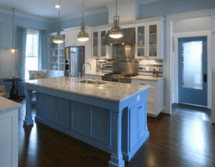 Colorful paint kitchen island ideas #kitchenpaintideas #kitchencolors #kitchendecor #kitcheninspiration