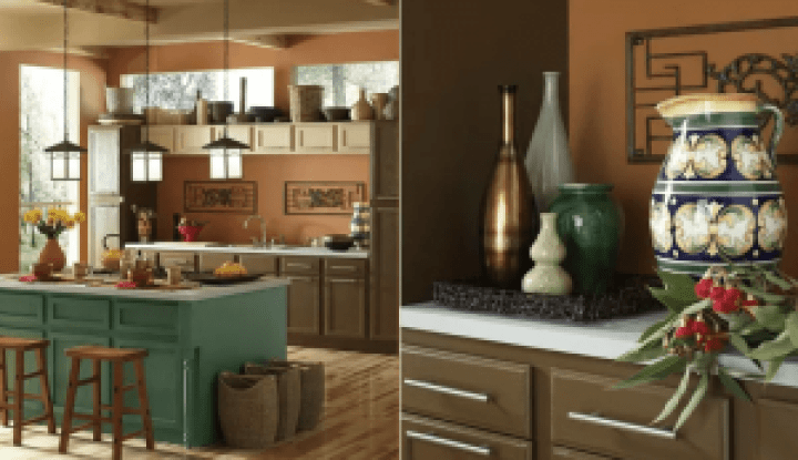 Colorful colors for kitchen cabinets and walls #kitchenpaintideas #kitchencolors #kitchendecor #kitcheninspiration