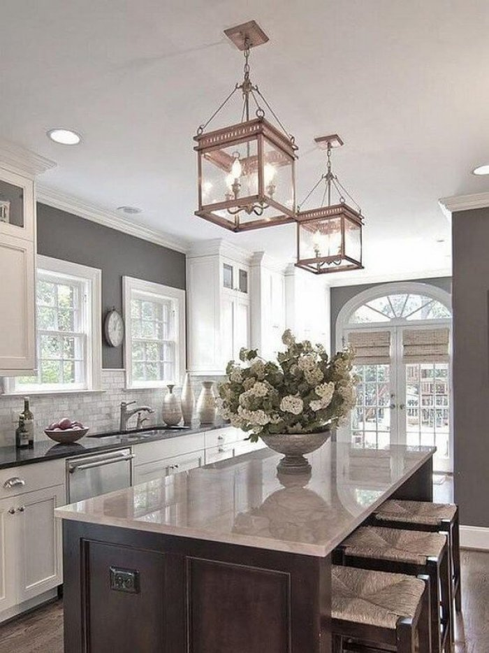 Popular small kitchen lighting #kitchenlightingideas #kitchencabinetlighting