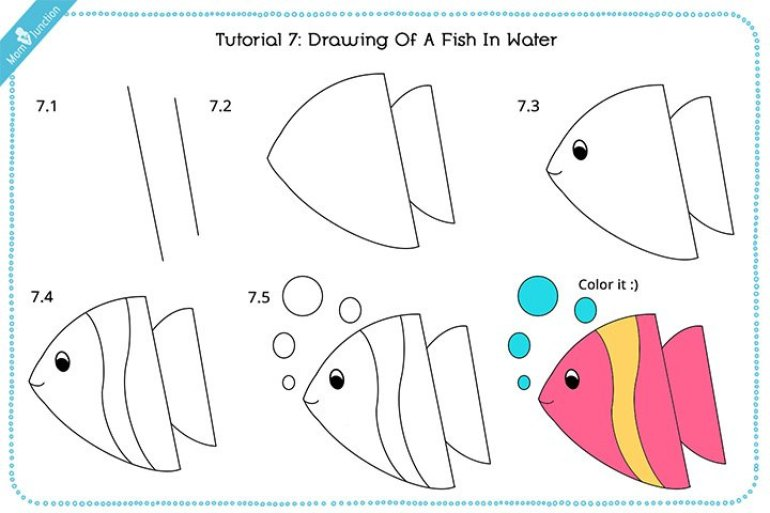 Easy how to draw a bass fish #howtodrawafish