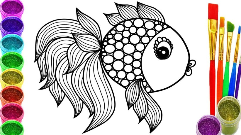 Handy how to draw a big fish #howtodrawafish