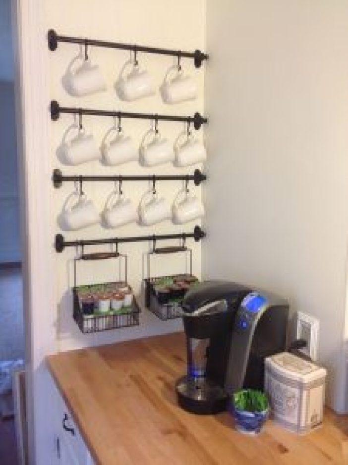 Unbeatable pallet wood projects #coffeestationideas #homecoffeestation #coffeebar