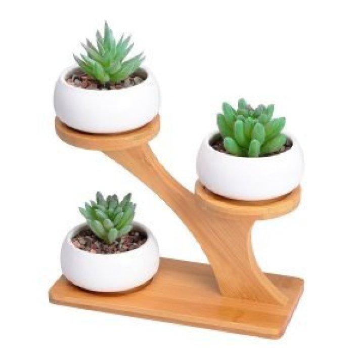 Staggering plant shelf ideas #diyplantstandideas #plantstandideas #plantstand