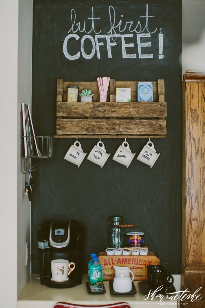 Stunning bakers rack coffee station ideas #coffeestationideas #homecoffeestation #coffeebar