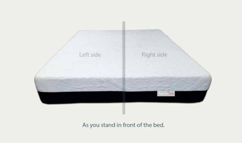Amore beds mattress dual firmness split design