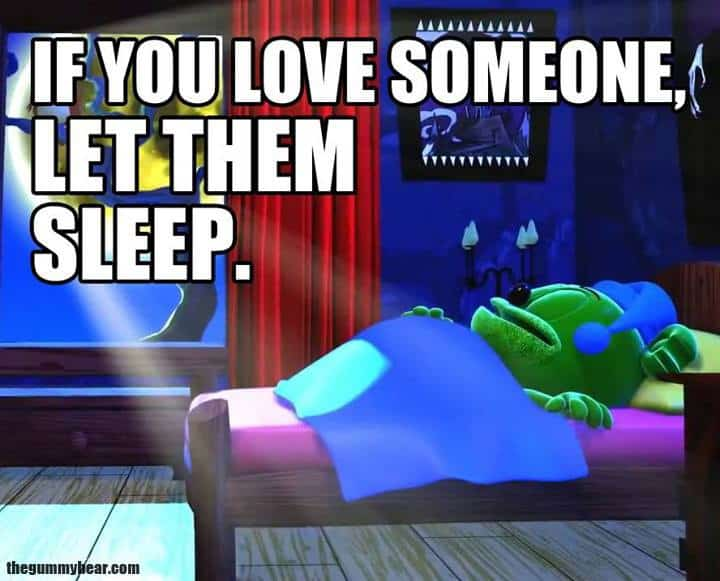 if you love someone, let they sleep