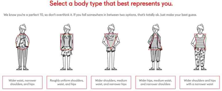 select a body type that best represents you