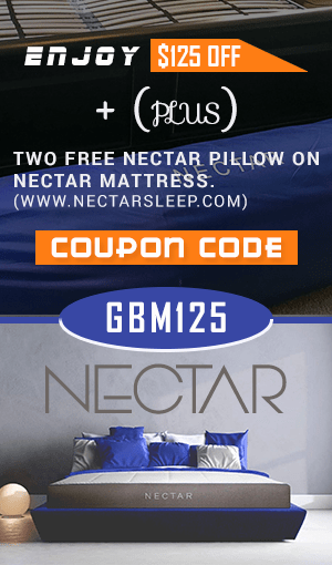 nectar mattress $125 OFF plus 2 free pillows