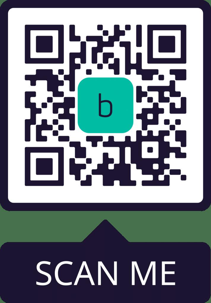 borderless contactless payment QR code