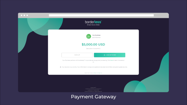 an image of borderless' payment gateway
