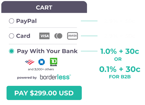 E-commerce borderless - pay with your bank