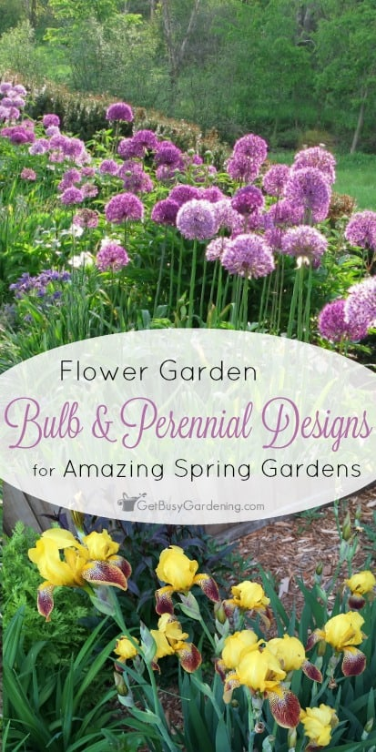 Flower Garden Bulb and Perennial Designs For Amazing