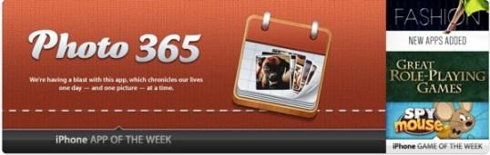 Photo 365 app of the week iTunes
