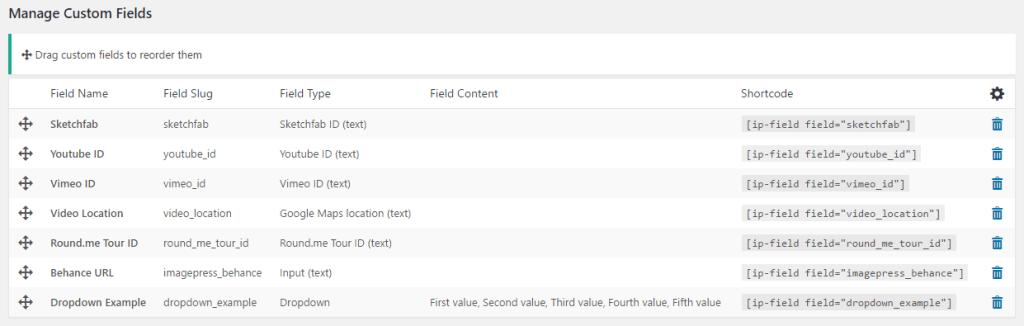 ImagePress Custom Field Shortcode
