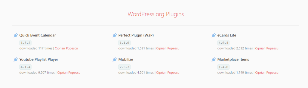WordPress Plugins - API