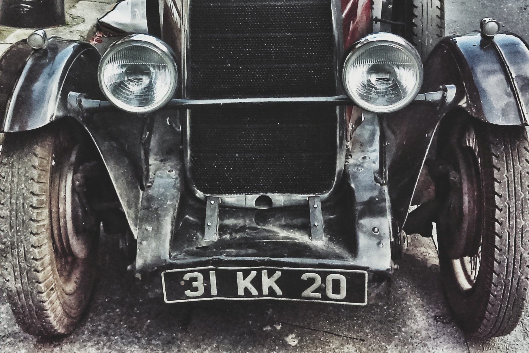 Car front and plate