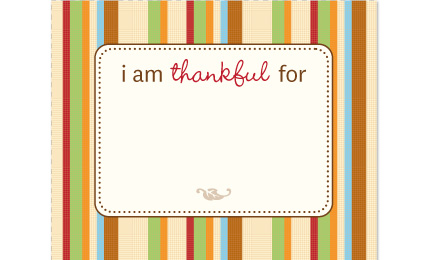 Tool: Free Printable Thankful.notes
