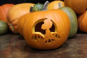 pumpkin gutter, pumpkin carving, halloween