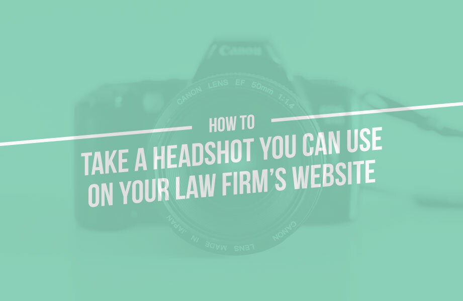 how to take a law firm headshot