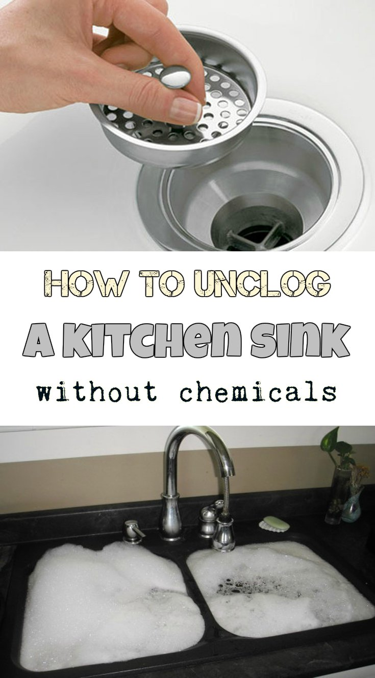 unclogging kitchen sink  Home Decor