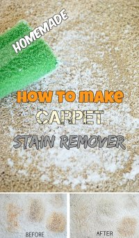 How to make a carpet stain remover (Homemade ...