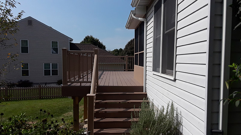 new composite deck stairs porch and