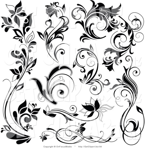 royalty free floral stock design