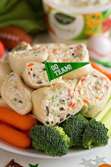veggie roll ups on plate
