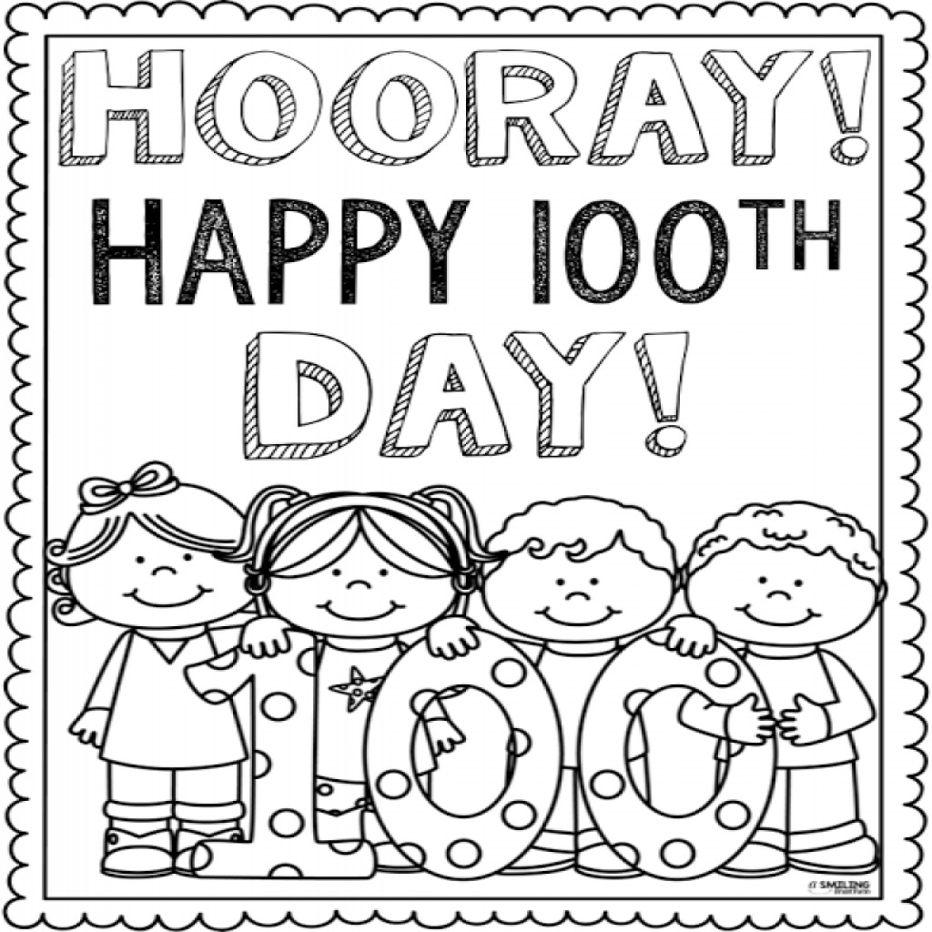 100 Day Coloring Pages At Getcolorings