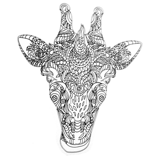 Adult Giraffe Coloring Pages Free Printable Colorings Print And Color
