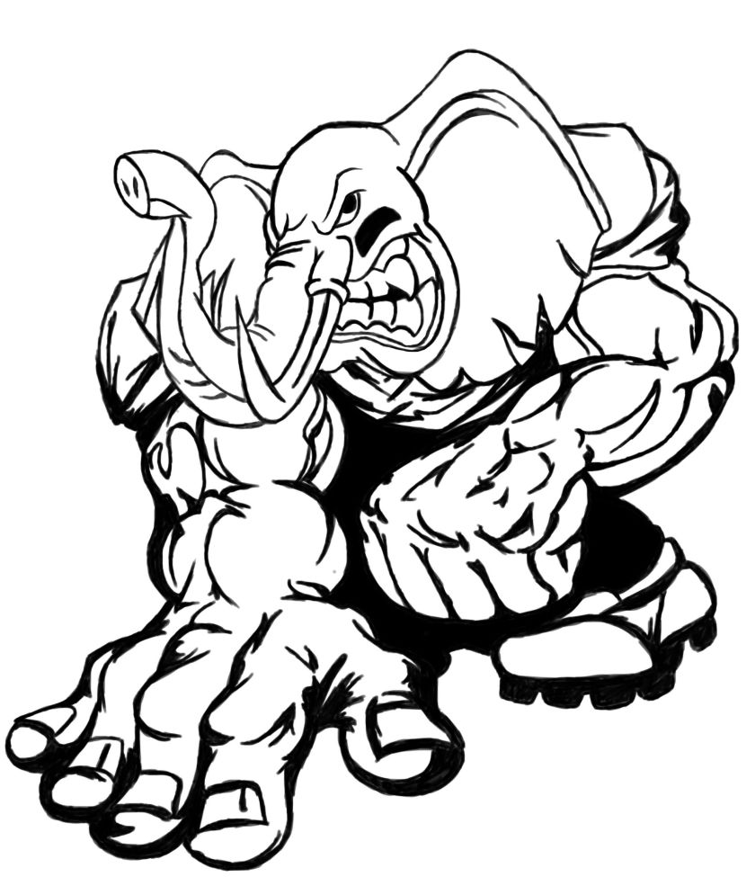 alabama coloring pages football at getcolorings  free