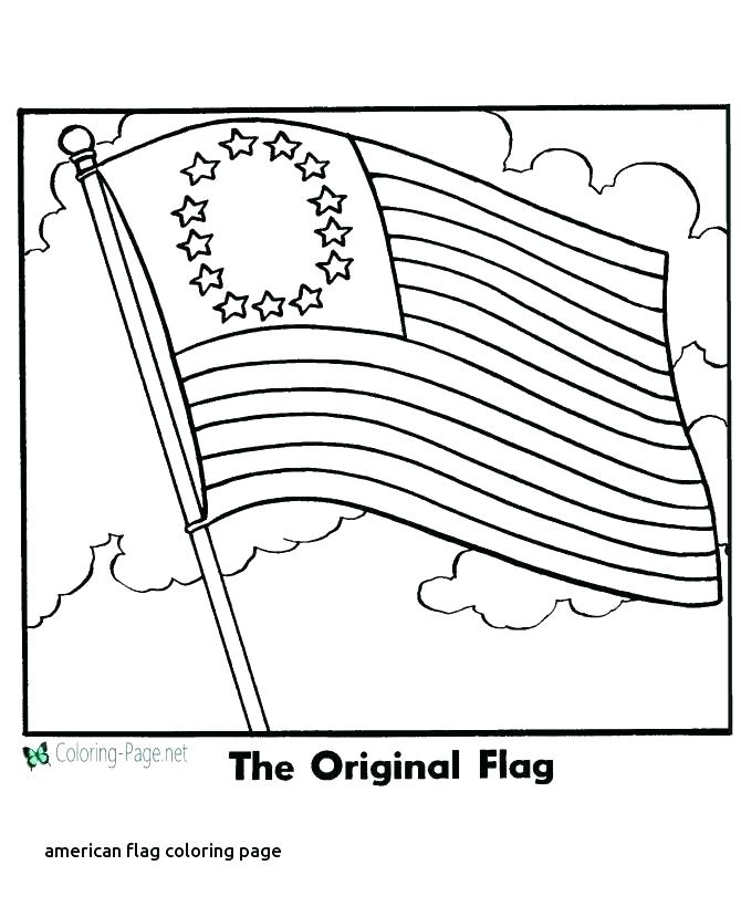 American Flag Coloring Page For Preschool at GetColorings