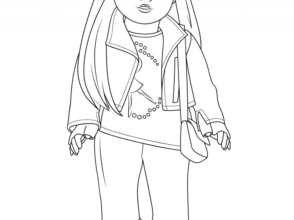 American Girl Coloring Pages Grace At Getcolorings
