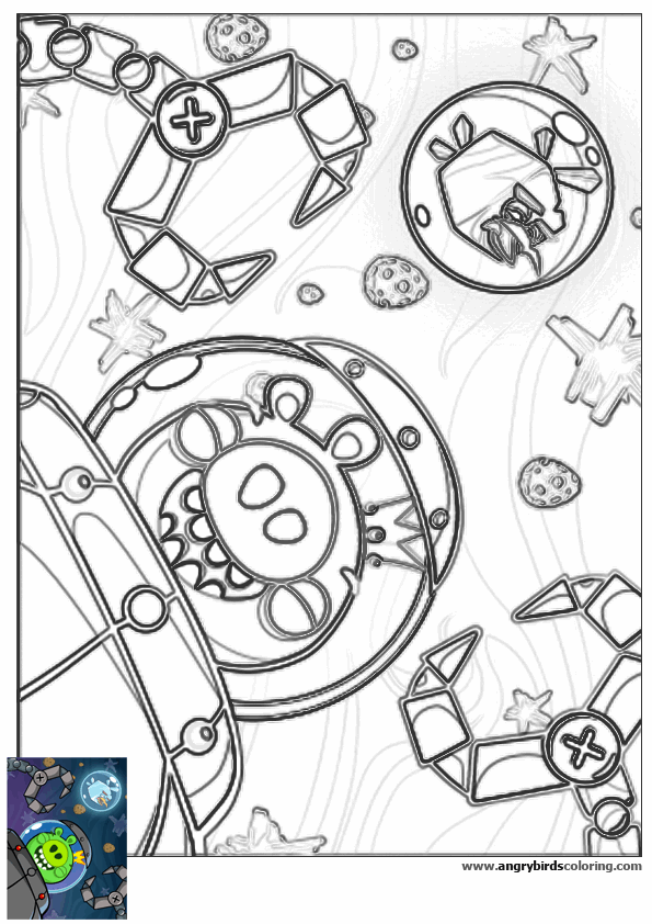 Angry Birds Space Coloring Pages at GetColorings.com