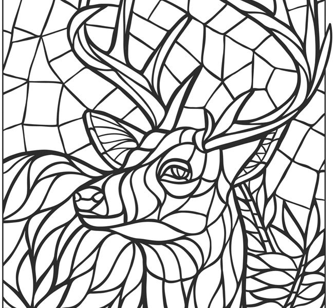 Mosaic Coloring Pages Free Mosaic Coloring Pages Roman