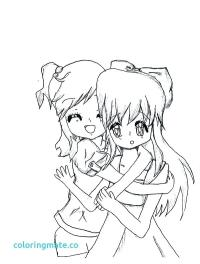 √ Anime Best Friends Coloring Pages   Best Friends Coloring ...