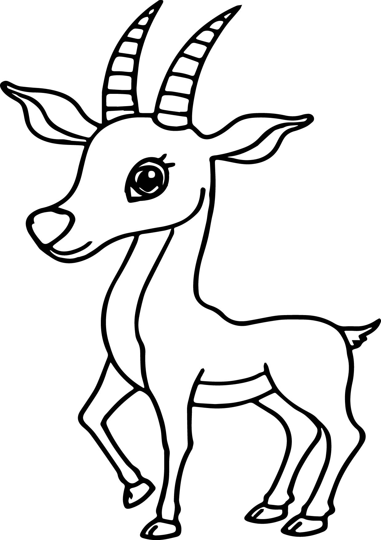 Antelope Coloring Page At Getcolorings