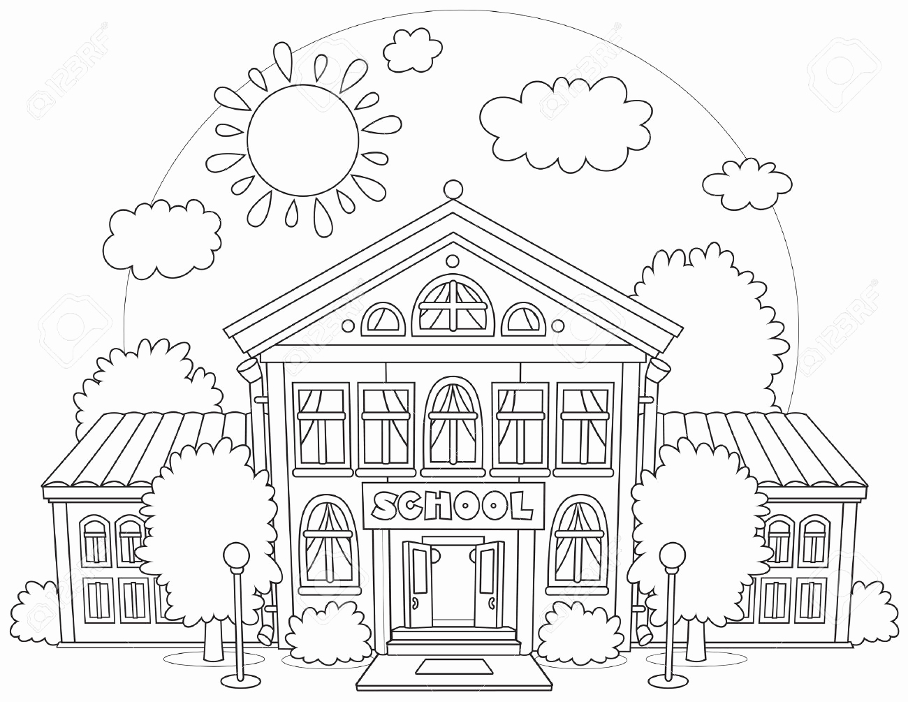 Apartment Building Coloring Page at GetColorings.com