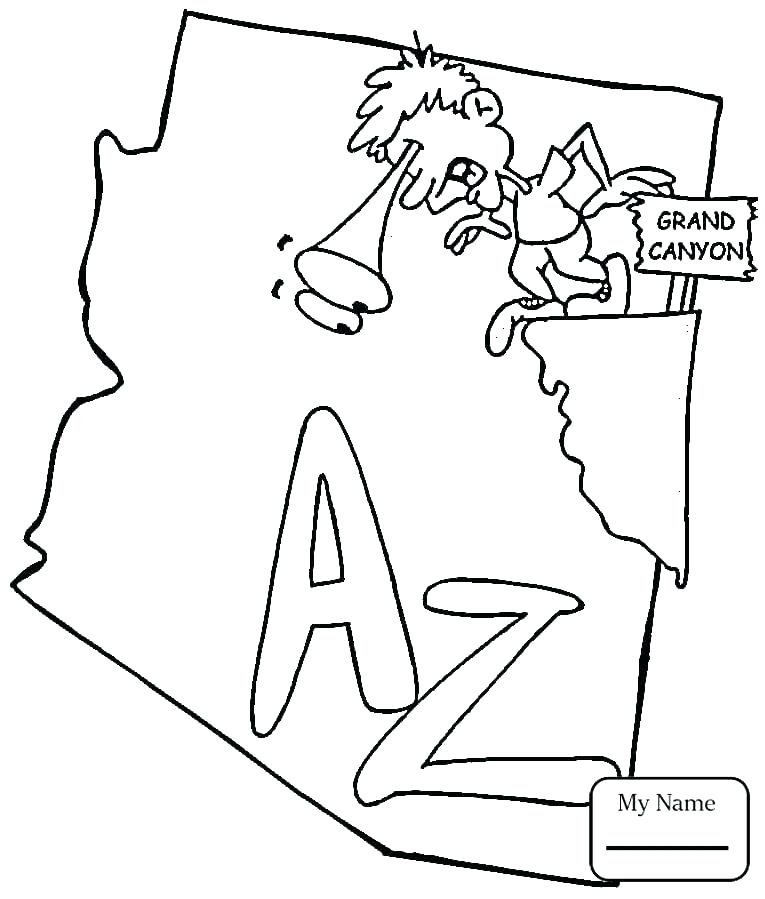 arizona state coloring page at getcolorings  free