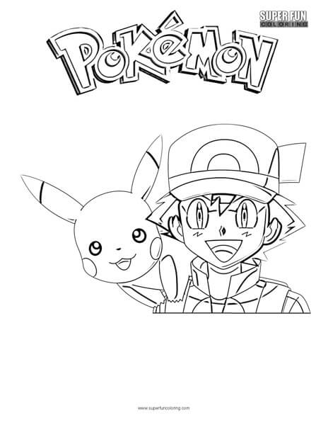ash and pikachu coloring pages at getcolorings  free